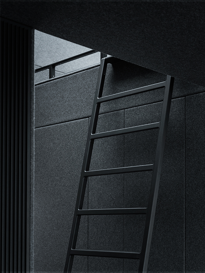 Stairs for gallery